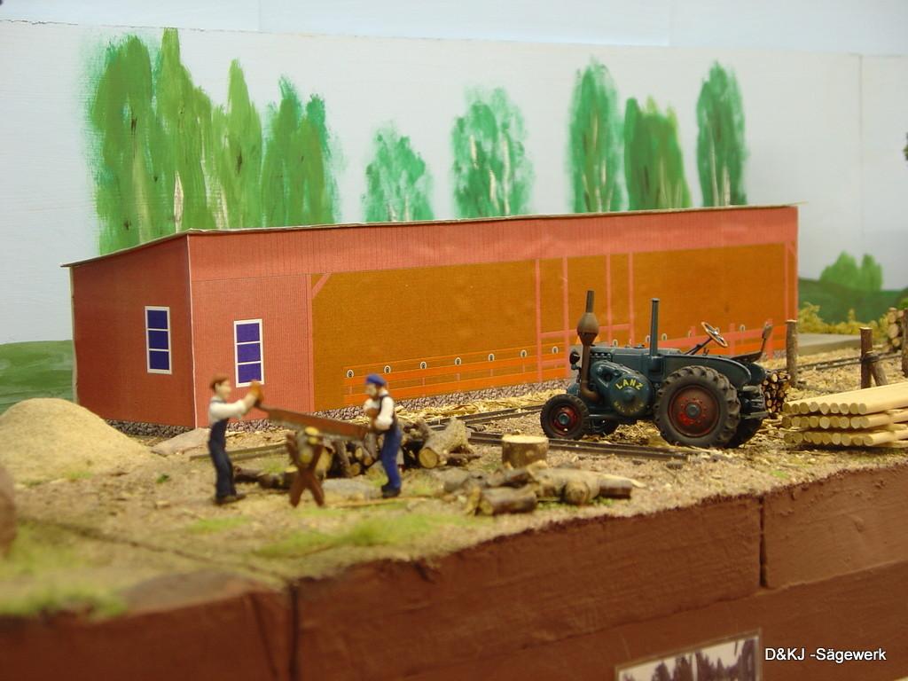 Die Vorlage für das Sägewerk steht im Freilichtmuseum in Brunskog