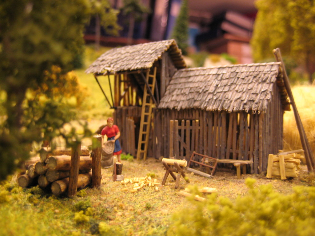 Für den Wionter wird schon mal das  Brennholz vorbereitet