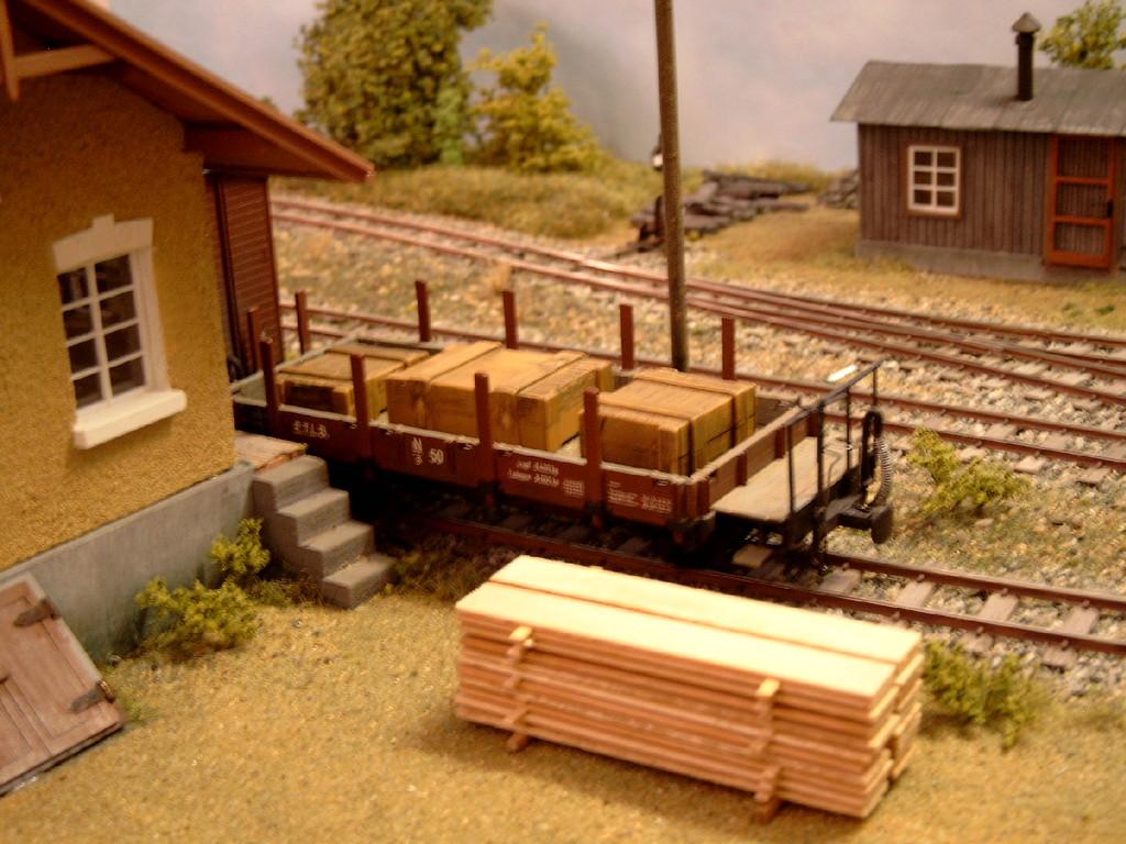 Holz ist eines der wichtigsten Bahngüter