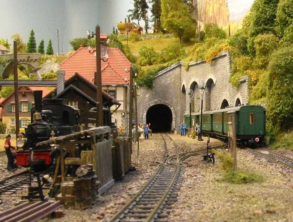 Blick auf den Bahnhof Blumenfeld.