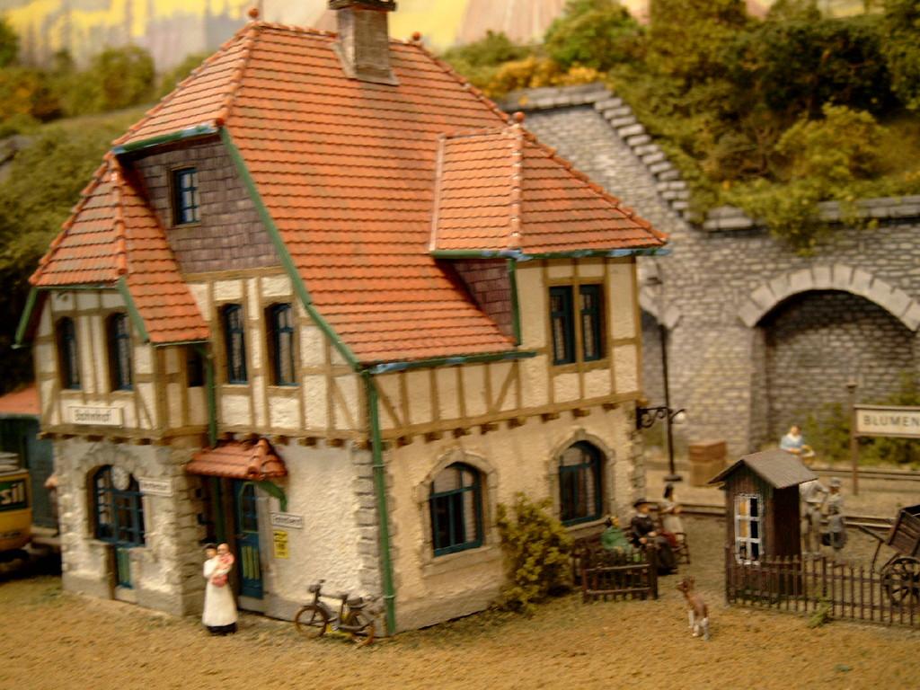 Bahnhof Blumenfeld (Selbstbau nach realem Vorbild).
