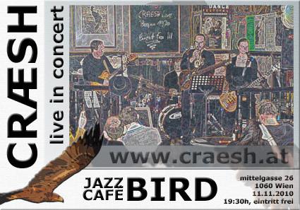 flyer jazzcafe bird 11.11.
