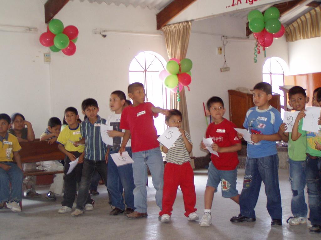 Concurso con los niños