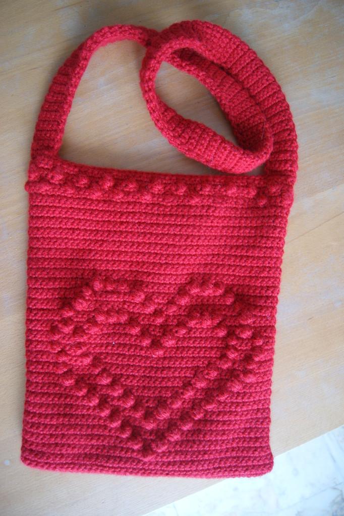 sac en crochet réalisé pour Anne