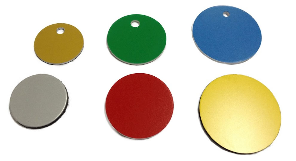 Ronden aus Metall oder Kunststoff