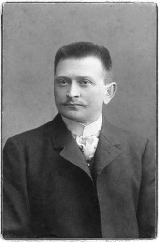 Urgroßvater Fleischermeister Ernst Welke, anno 1903