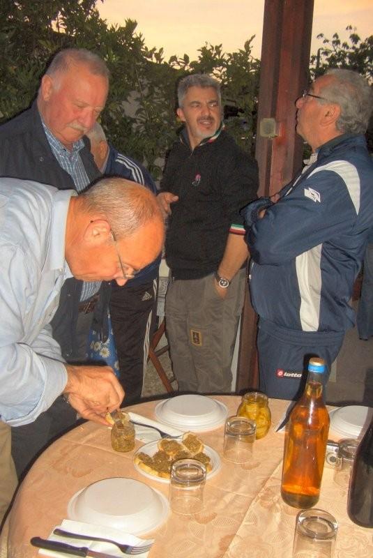 cena del 24 aprile a casa di Renato