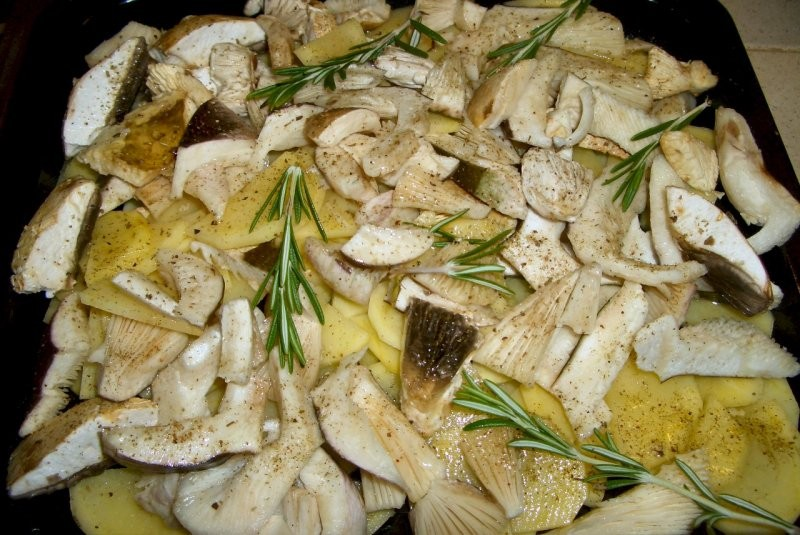 russule e patate al forno