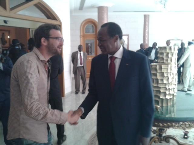 Mit Blaise Compaoré, Präsident von Burkina Faso. Foto: Jörg Böthling