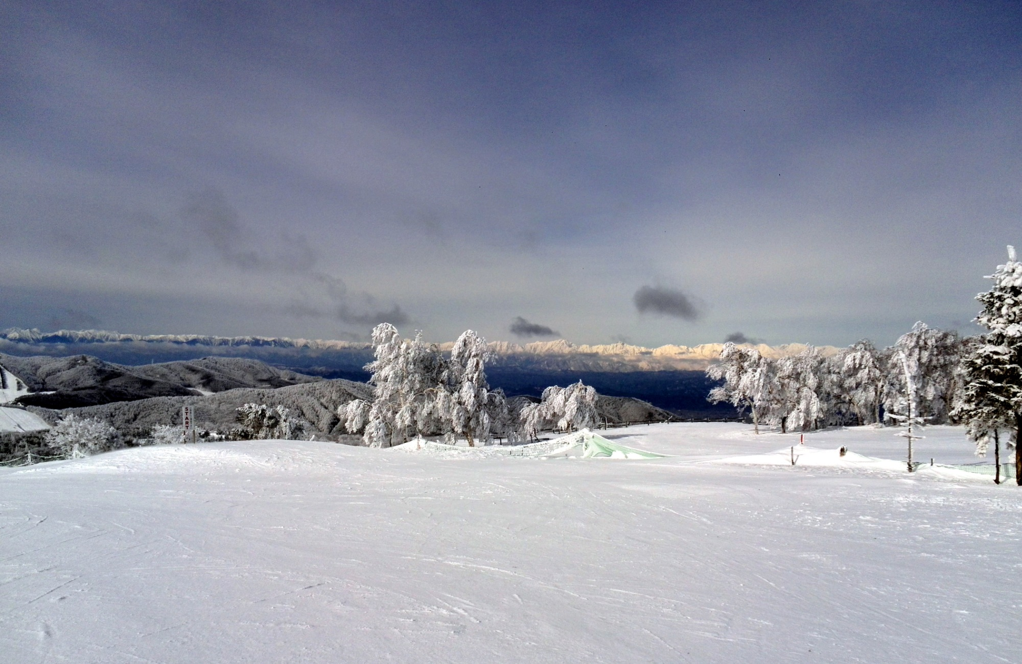 奥ダボスゲレンデ山頂、マイナス25度の朝