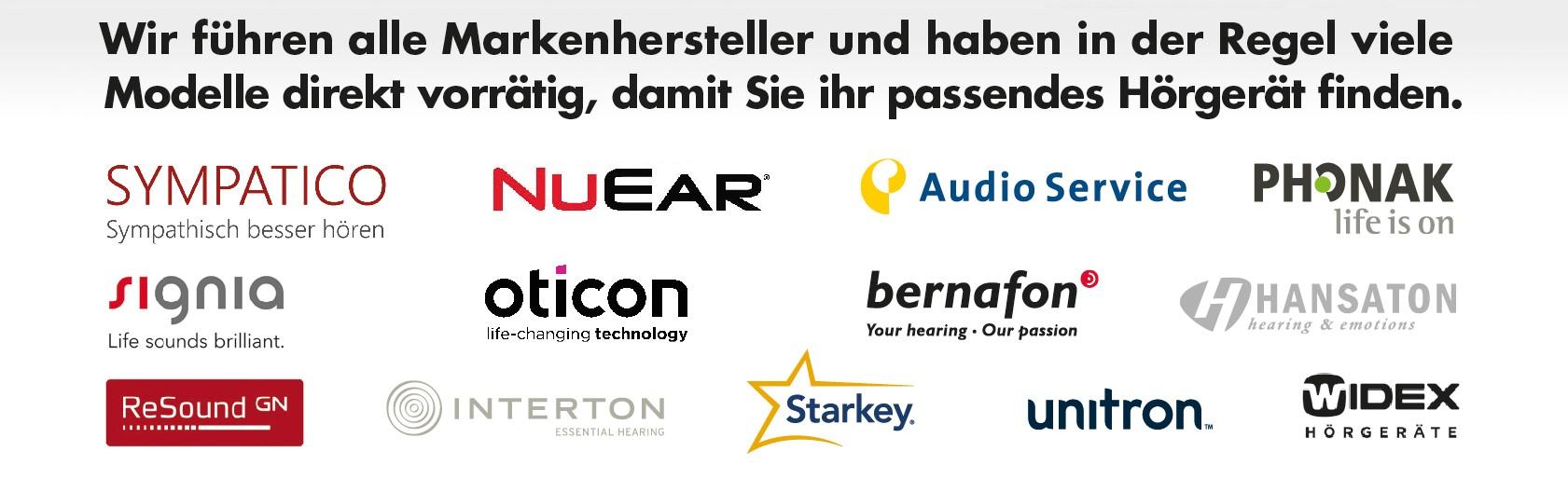 Wir haben Zugrif auf mehr als 1200 verschiedene Hörgeräte