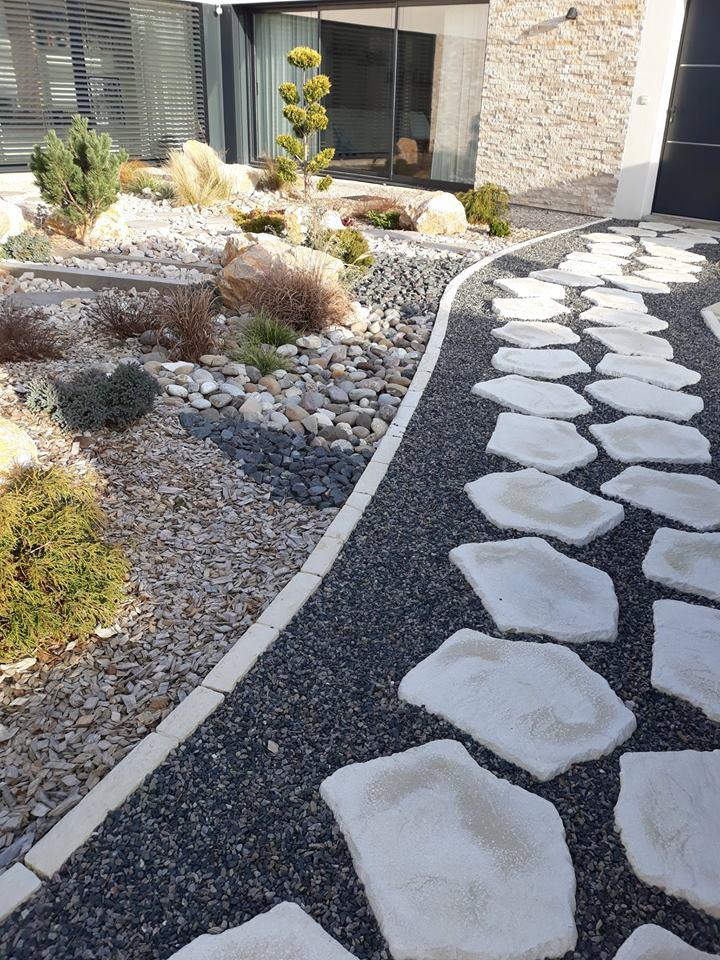 Création d'un jardin et allée ''zen''