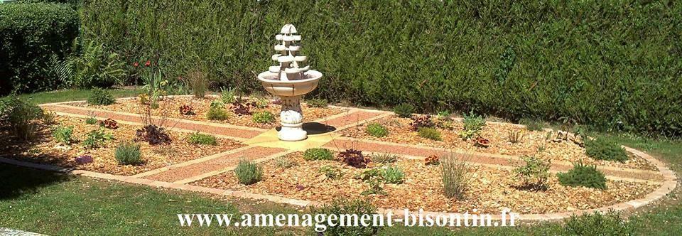 création d'un jardin a la française - fonntaine