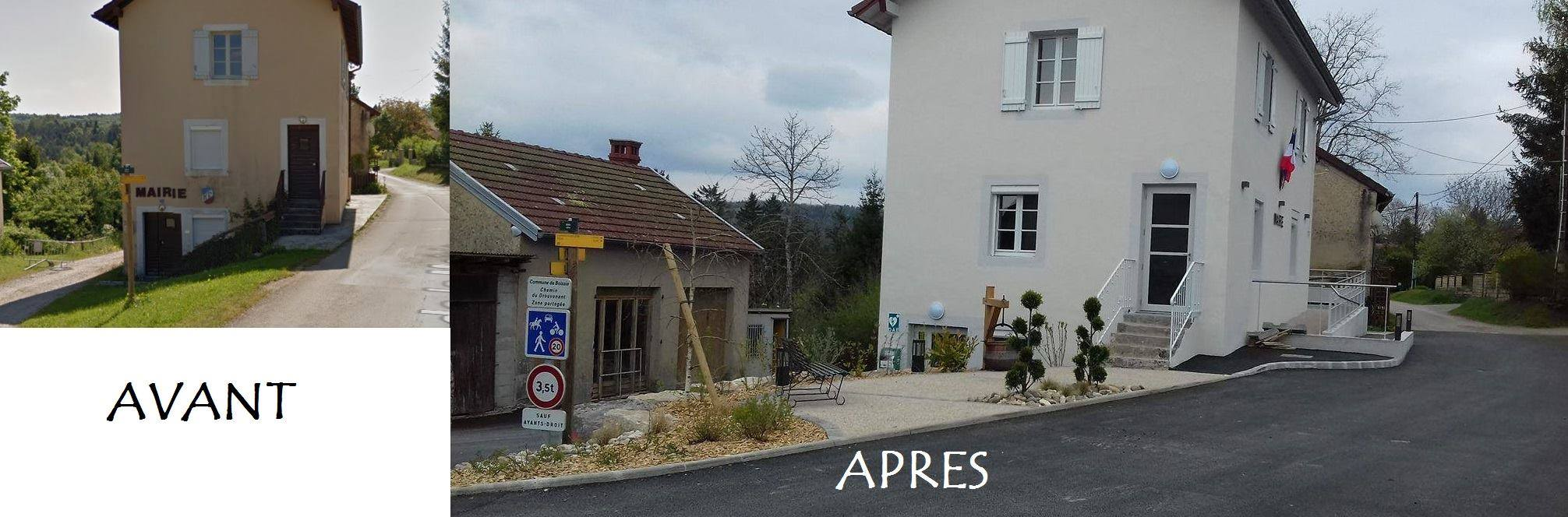 Création d'une place de village (béton désactivé, bordure, plantations...)