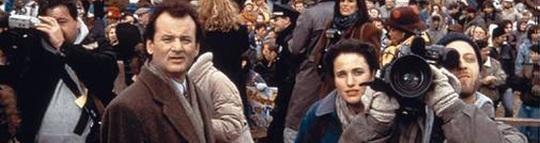 "Bill Murray et Andie McDowell dans ""Un jour sans fin""."
