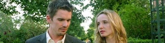 """Ethan Hawke et Julie Delpy, Jesse et Céline, dans """"Before Sunset""""..."""