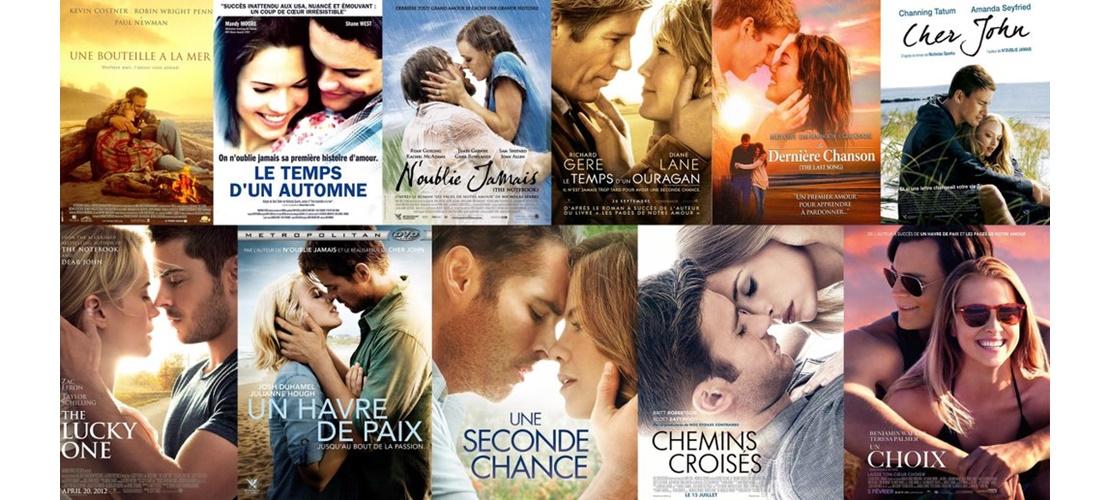 Quel est votre film romantique adapté de Nicholas Sparks préféré ? - Films de Lover, films d ...