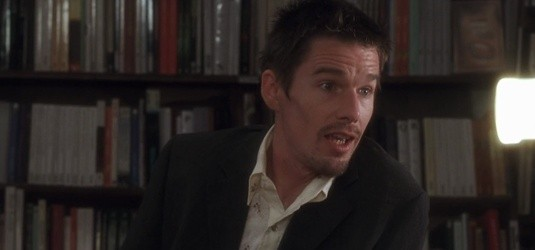 "Jesse Wallace (Ethan Hawke) dans ""Before sunset""."