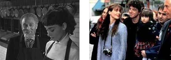 A Paris, Audrey Hepburn apprend à cuisinier tandis que Julia Ormond apprend à photographier.