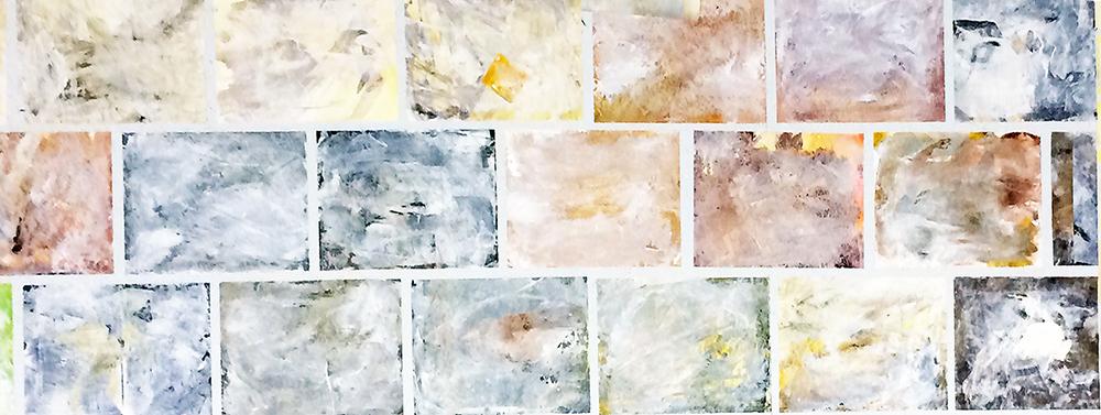 Angefertigte, gemalte Mauersteine. Jedes für sich ein Unikat, kleine Kunstwerke!