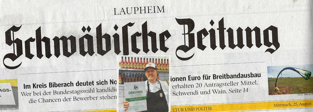 Neues von der Wilde Hilde in der schwäbischen Zeitung