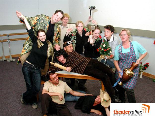 Improvisationstheater Reflex Das allererste Team in 2002