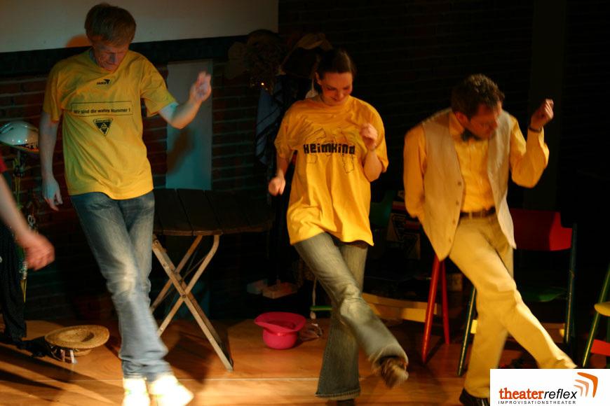 Improvisationstheater Reflex beim Grooven