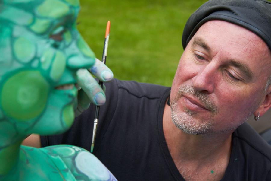 """""""Lizard""""; Bodypainting Martin Welzel; Foto Ralf Leubner; Model Anna"""