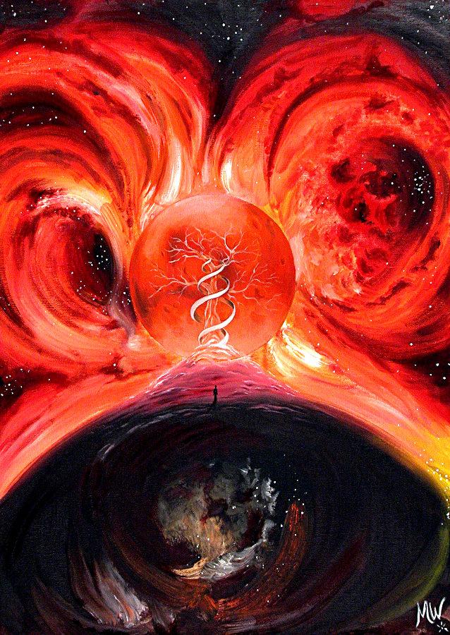 """Mars 1"", Martin Welzel, 80 x 60 cm, Ölfarbe auf Leinwand"