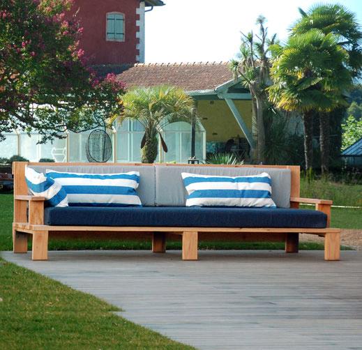 canapé bois extérieur