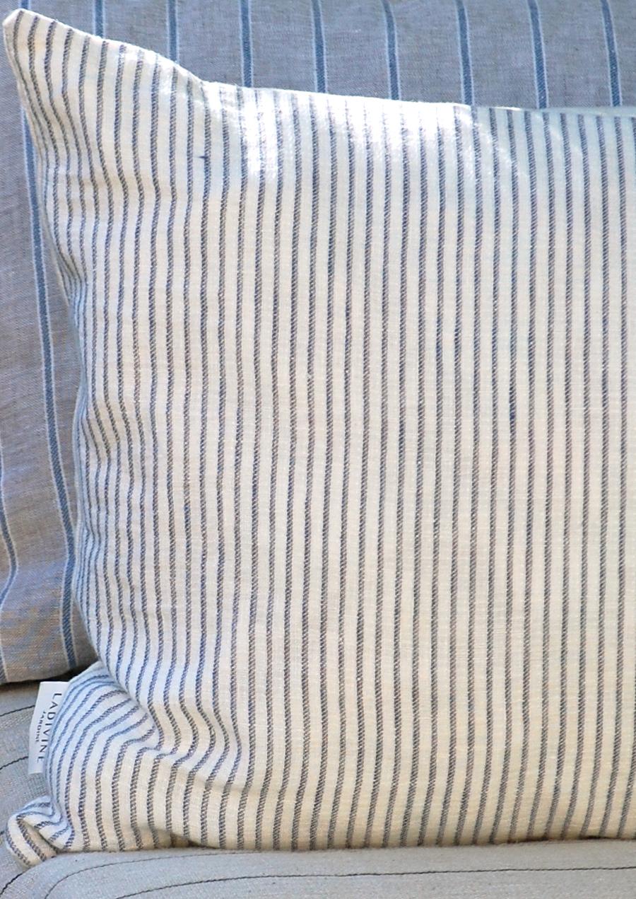 Rayures bleu/beige