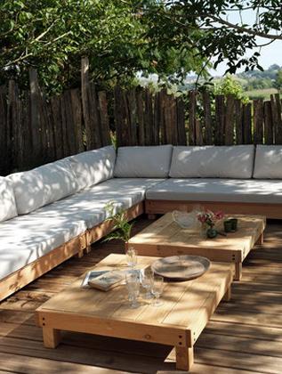 Tables de jardin bois douglas - ladivinejardine