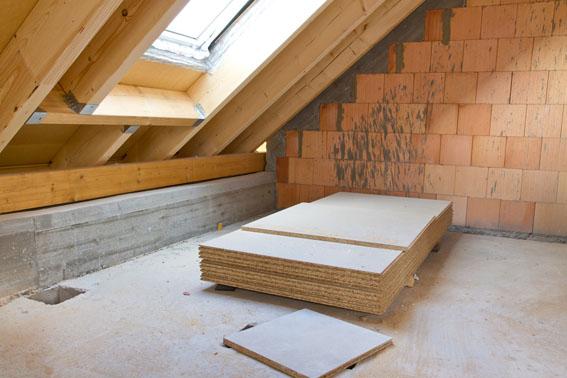 Dachbodenausbau, Fenster, Dämmung