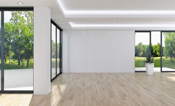 Designboden, Malerarbeiten, Schiebetür