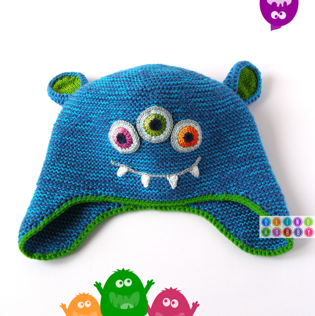 Knitted Monster Hat