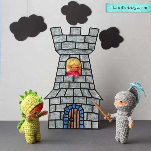 амигуруми, вязаные куклы крючком, вязаная сказка про принцессу, вязаные куклы в костюмах, авторская вязаная игрушка, кукольный театр с вязаными игрушками