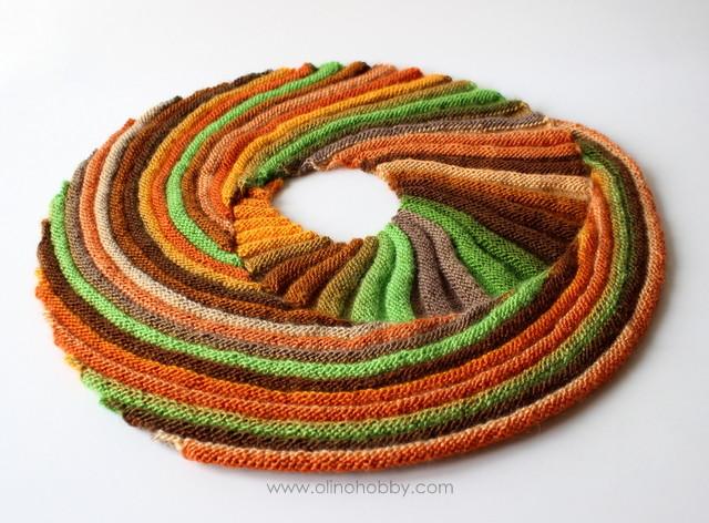 knitted scarf Frangiflutti
