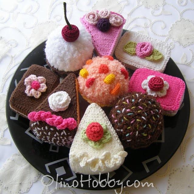 Knitted cakes - OlinoHobby