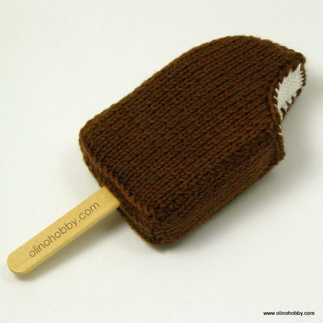 ice cream knitted food