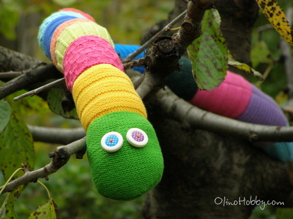 Knitted Snake soft toy