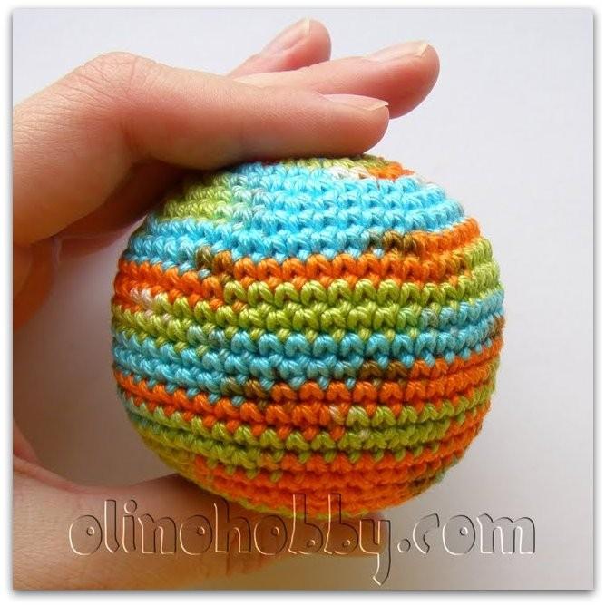 вязаный мячик с бусинами, olinohobby мастер-классы, вязаный мячик описание, описание вязания крючком мячика