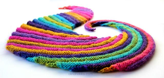вязаный шарф, вязаный бактус, бактус волнорез, Frangiflutti