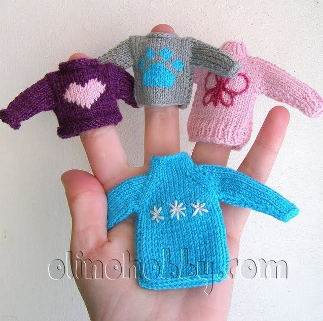 Miniature knitted sweater