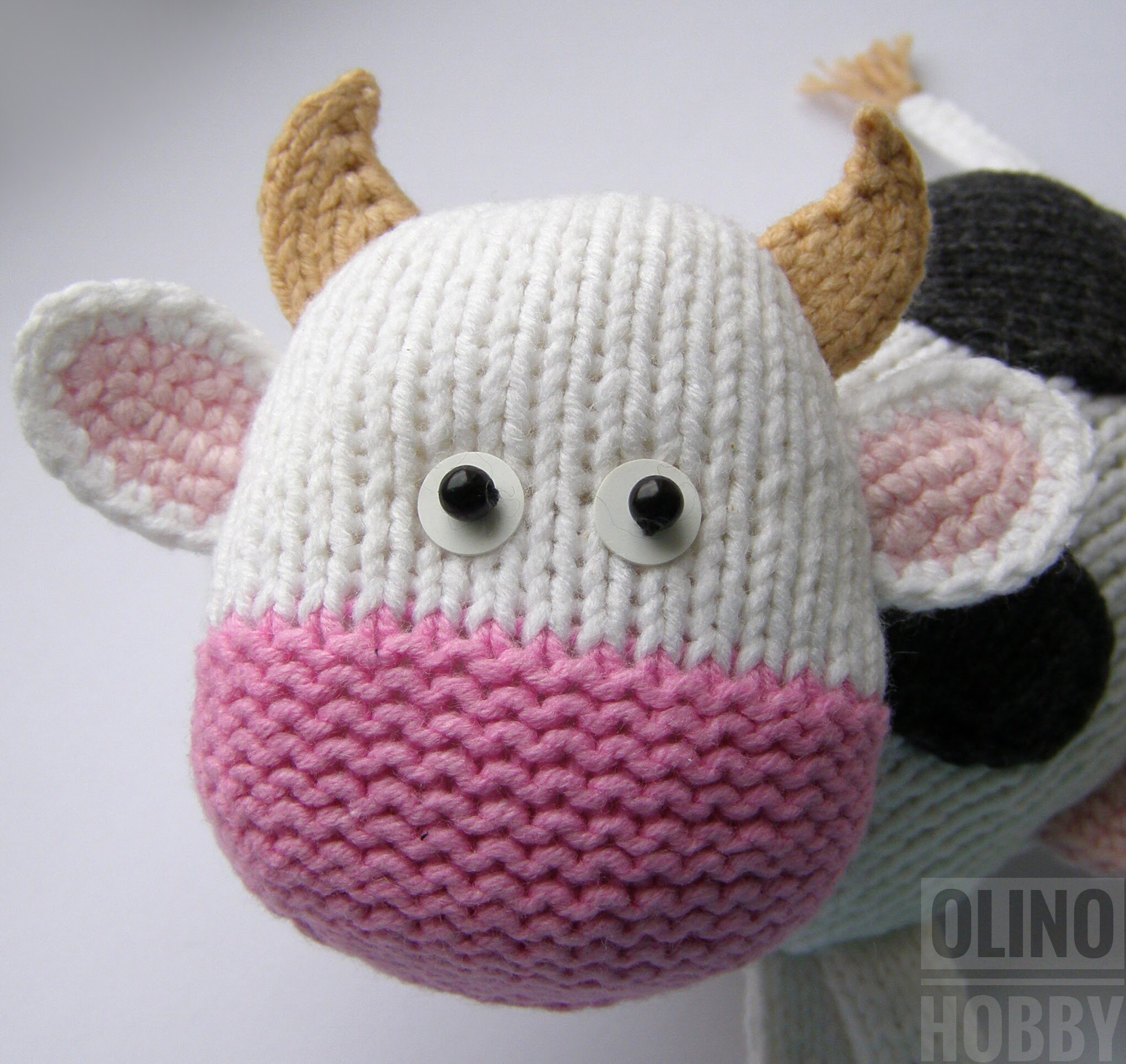 Knitting pattern Cow $4.99