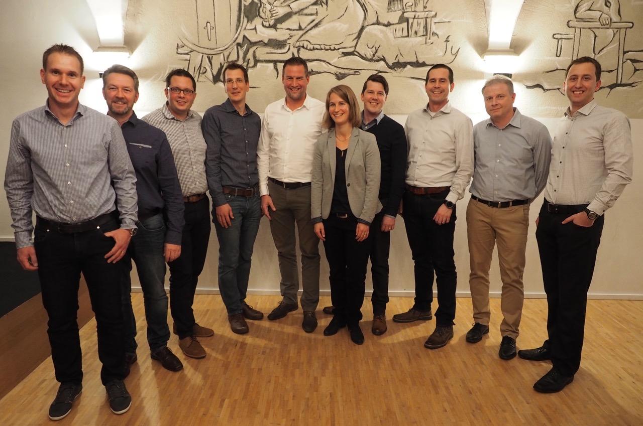OVB-Vorstand und Neumitglieder anlässlich der 53. GV vom 10. November 2017