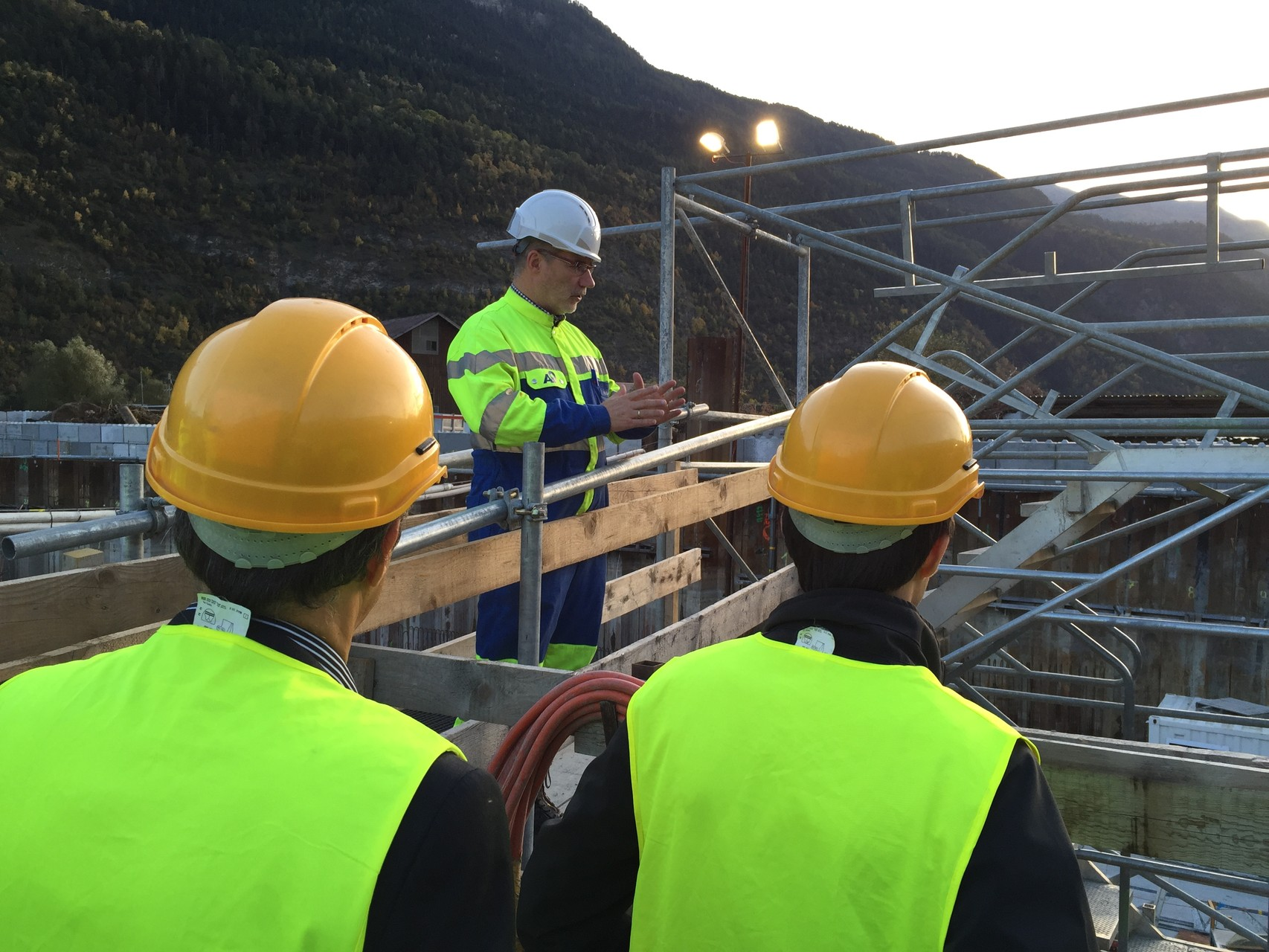 A9, Besuch der Baustellen in Visp, 8. Oktober 2015