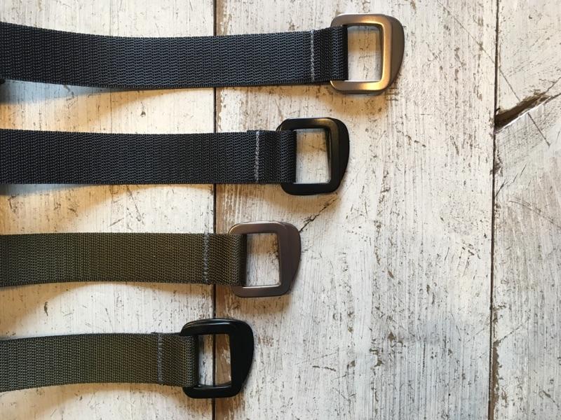 全2カラー(Black&Olive) バックル2パターン(Black&Gray)