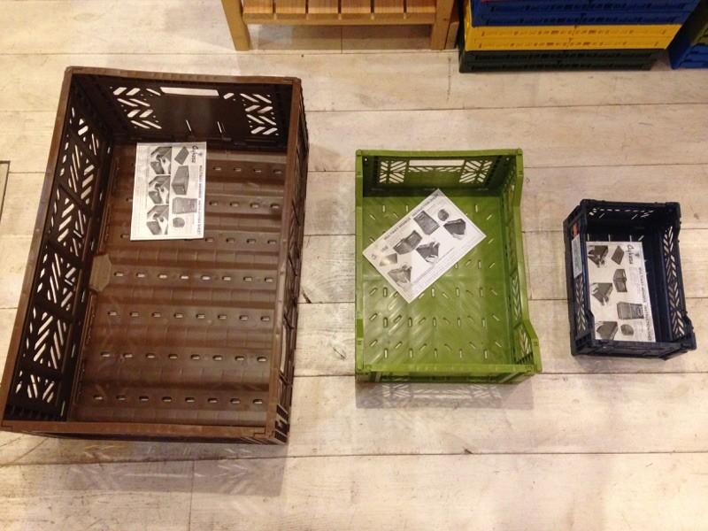 左より MAXI BOX ⇒ MIDI BOX ⇒ MINI BOX