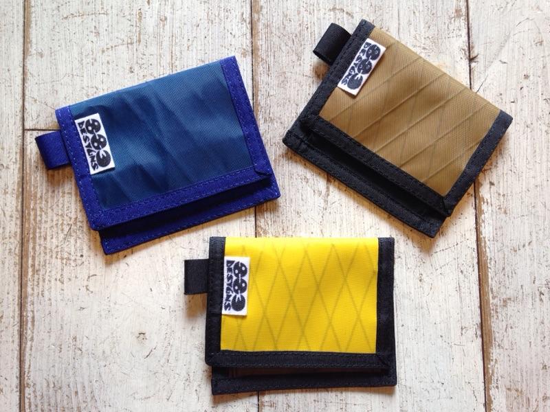 883 designs(ハヤミデザイン) Hiker Wallet 各¥3,888(税込)