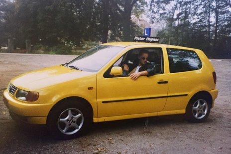 Rijschool Hartkamp Barneveld 1993. Autorijschool Erik Hartkamp rijlessen Volkswagen Polo.